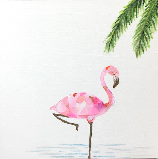 art prints - Mauve Flamingo by Hannah Lowe Corman