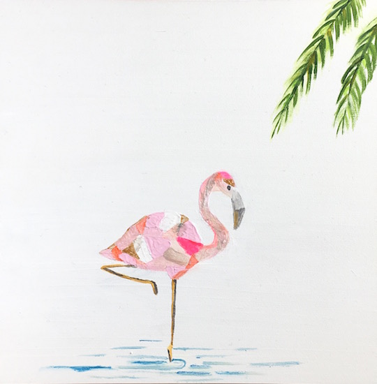 art prints - Pretty in Pink Flamingo by Hannah Lowe Corman