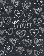 Chalk Hearts by Kim Sabel