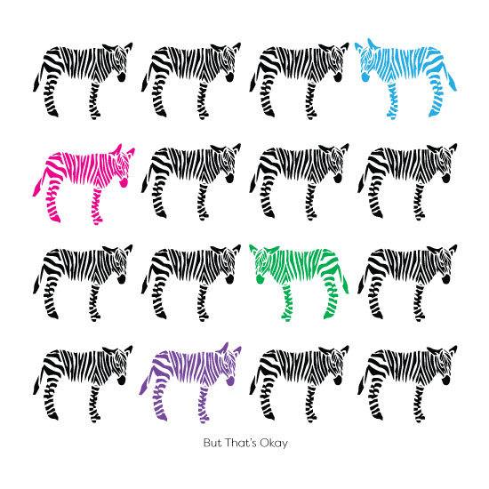art prints - It's Cool to Be Different 2/4 by Wendy L. Wahshaw