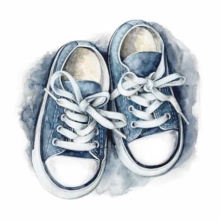 art prints - Baby Steps - Blue by Shannon Christensen