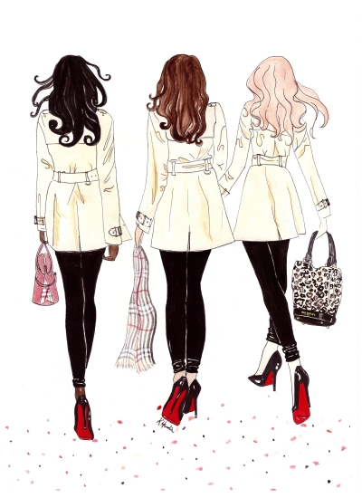 art prints - Burberry Besties by Kristina Heredia