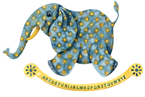 art prints - Elephant Alphabet by Shannon Christensen