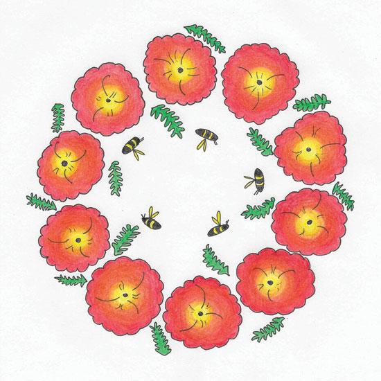 art prints - Poppy + Bee by Erin L Green