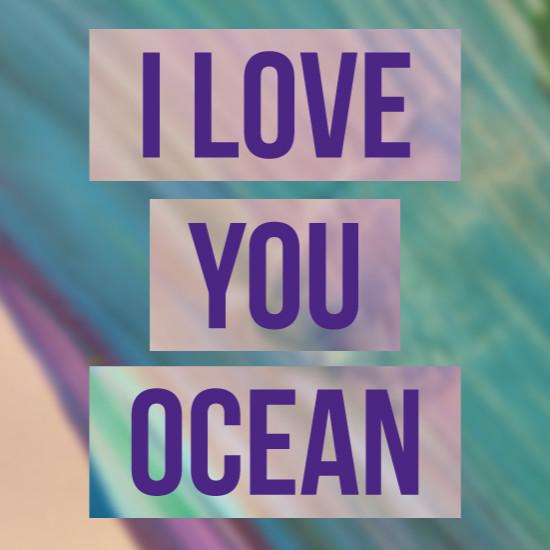 art prints - I love the ocean by Veronica Diament