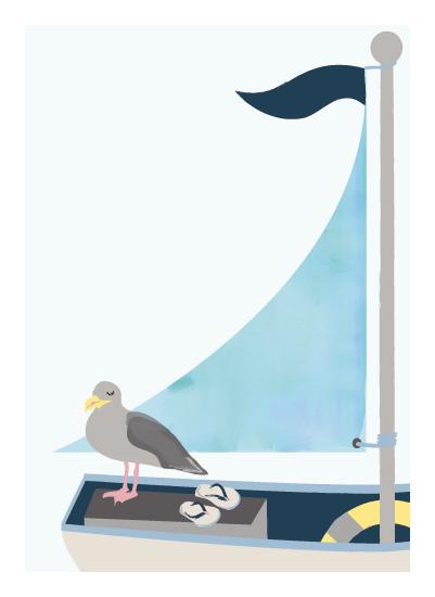 art prints - Little sailor by Kanika Mathur