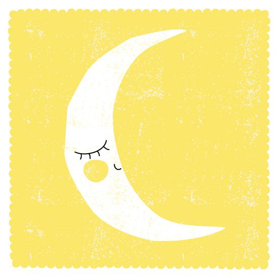 art prints - Sleepy Moon by Angela Thompson