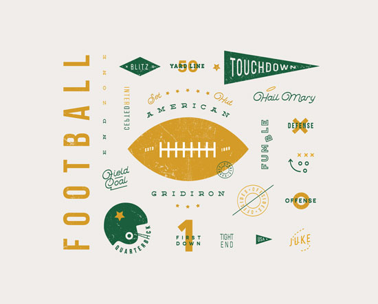 art prints - American Football Vocab by Dana Beckwith