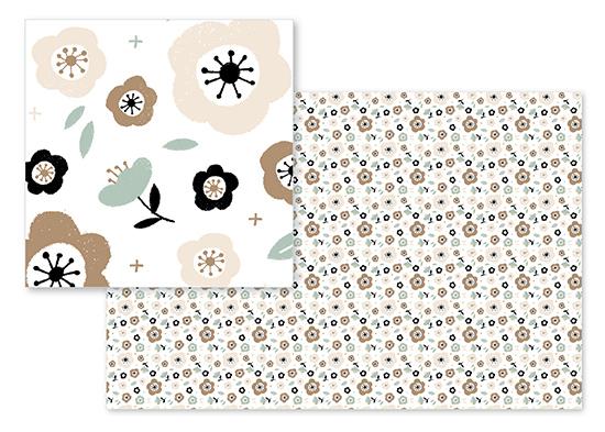 fabric - soft floral by Silvia Rossana Garavaglia