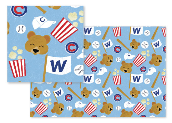 fabric - 2016 World Series Champs by Stephani Mrozinski