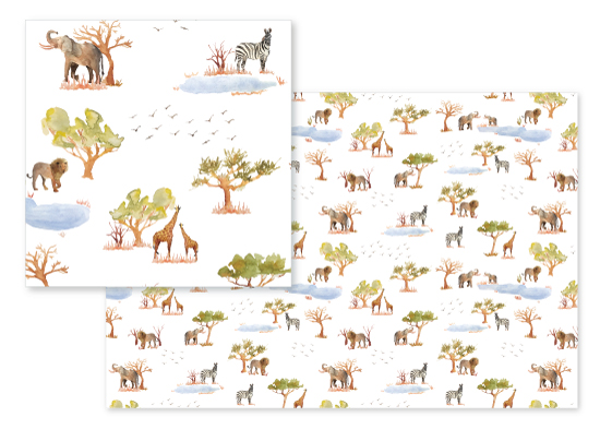 fabric - Safari Scenes by Brydon Holsey
