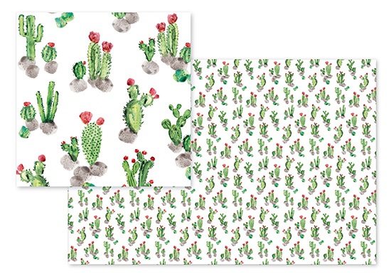 fabric - Cacti Landscape by Rosana Laiz · Blursbyai
