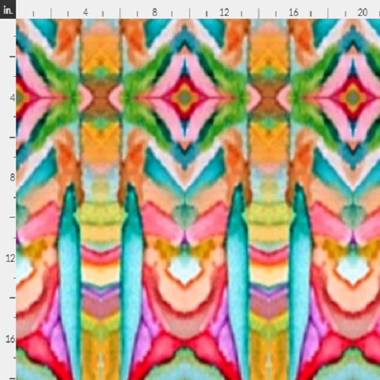 fabric - colorful boho by Ann E Alburn