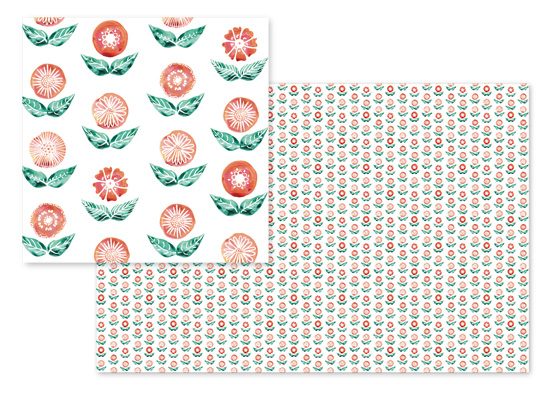 fabric - Round flowers and leaves by Rosana Laiz · Blursbyai