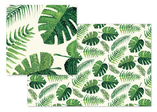 fabric - Monstera and palm leaves by Rosana Laiz · Blursbyai