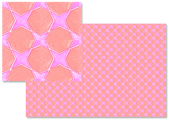 fabric - Pink tile by Reka Lena