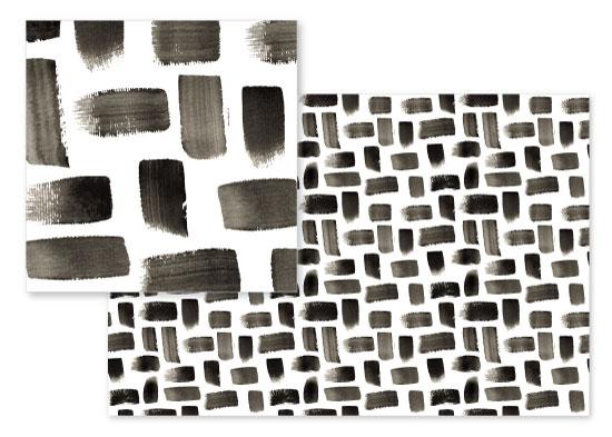 fabric - Brushstroke Brickwork by Malena Southworth