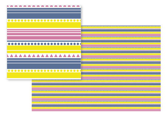 fabric - Summer vibes Stripes by May Leong
