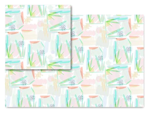 fabric - Abstract by Marina Prints_design studio