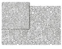 Outline Little flower by Marina Prints_design studio