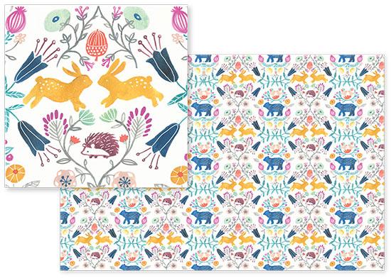 fabric - Folk Art Festival by Afton Harding