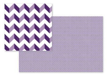 British Purple Chevron