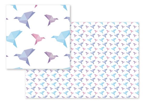 fabric - Origami Flock by Francois Carrara