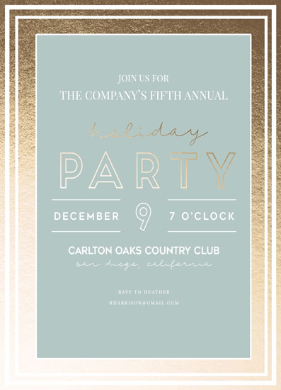 party invitations - Annual Company Holiday Party by Ashton Rynearson