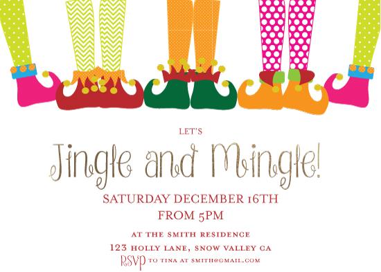 party invitations - Jingle your Booties by eva jones