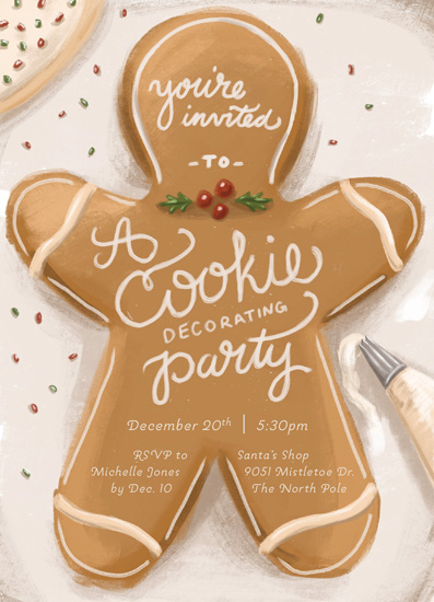 party invitations - Cookie Cutter Party by Stephanie Strouse