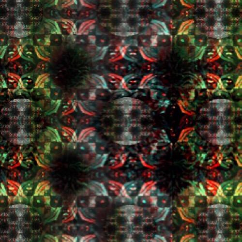 fabric - green black red shake by Zhea Zarecor