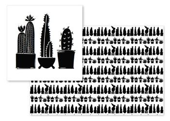 Black & White Cacti