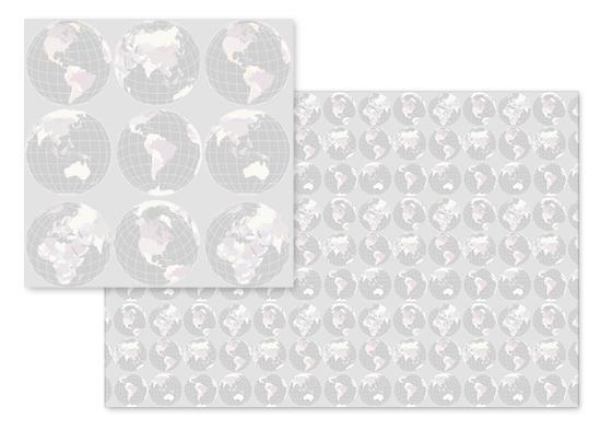 fabric - Rotating globes (trifecta 1) by Rosana Laiz · Blursbyai