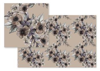 Graphite Floral