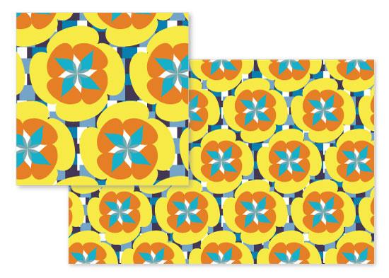fabric - Geo Floral 1 by Miranda Mol