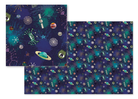 fabric - Space Oddities by Gabrielle Cave