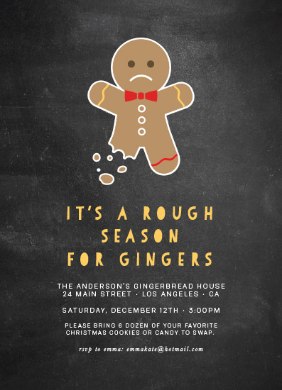 party invitations - Poor little Ginger by Hudson Meet Rose