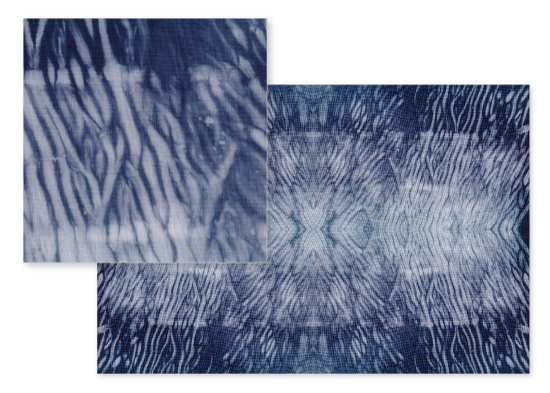 fabric - Shibori sea waves by Dieuwertje