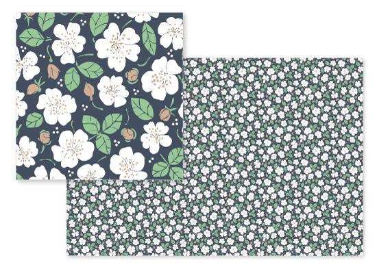 fabric - Sissinghurst white garden by Dieuwertje
