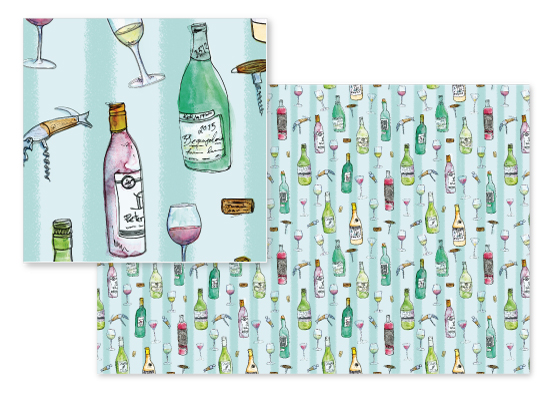 fabric - Sip and Swirl Wine Du Jour by Sabrina Hoeke