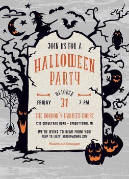 Tombstone Halloween Party