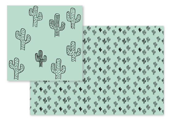 fabric - Sketchy Cactus by Lizzie Choffel