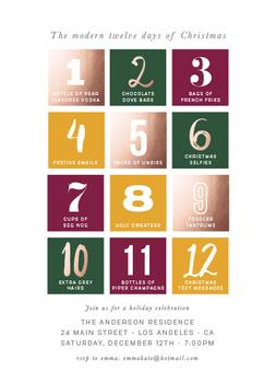 The modern 12 days of Christmas