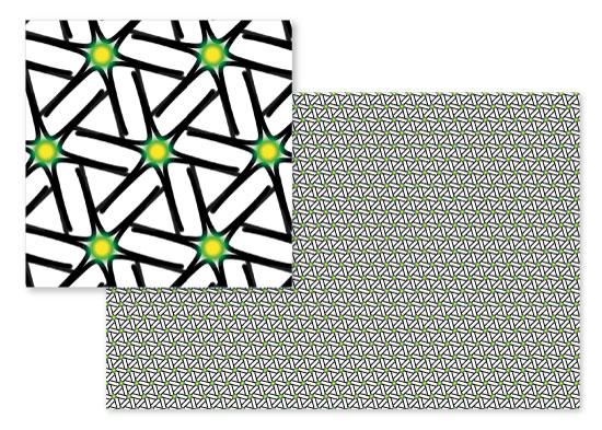 fabric - Green Stars by Evie Kristen