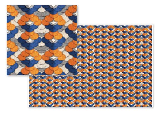 fabric - Abstract multiple circles by Tatyana Raetskaya