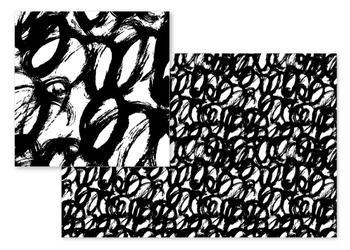 Graphic brushstrokes