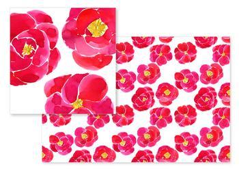 watercolor camellia
