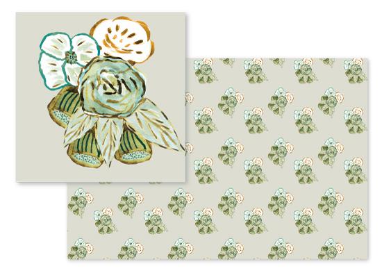 fabric - Flower Impressions by Arezo Design Studio