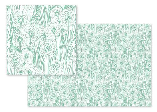 fabric - Dandelion Field by Gina Vicencio
