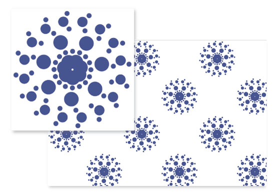 fabric - Poinsettia Pinwheel by Erin L Green